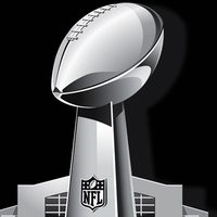 Super Bowl logo trophy