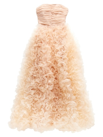 JC Penney Marchesa collection, March 2013, pearl long gown, blush, dress