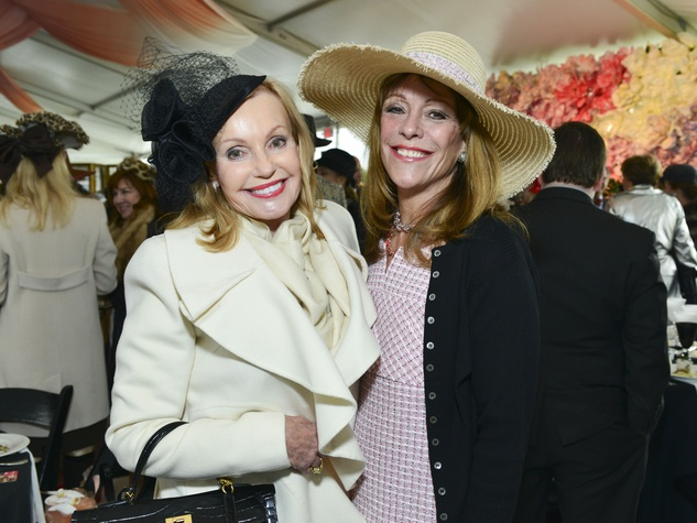 14 Pat Breen, left, and Franci Crane at Hats in the Park March 2014