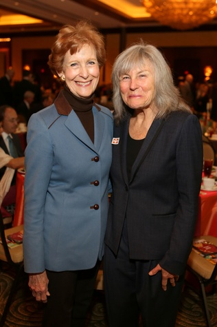20 Susan Baker, left, and Roberta Achtenberg at the 1 Million Dollars lunch for Good February 2015