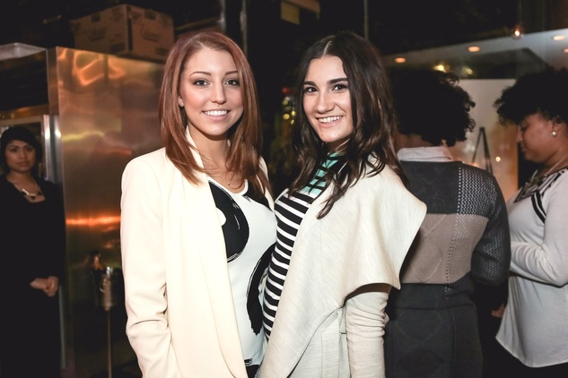 Michelle Murphey, left, and Erin Kemp at the Page Parkes & Ruggles Black Holiday Soiree December 2014