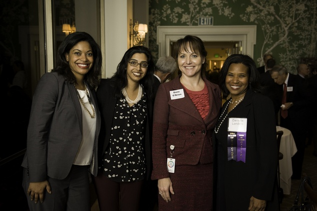 7 Stephanie Bundage, from left, Monica Karuturi, Dana O'Brien and and Daniella Landers at the Houston Bar Association Harvest Celebration November 2014