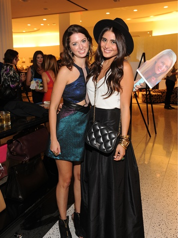16 Tamar Mendelssohn, left, and Sarah Jawda at The Orange Show's A Couture Cause party