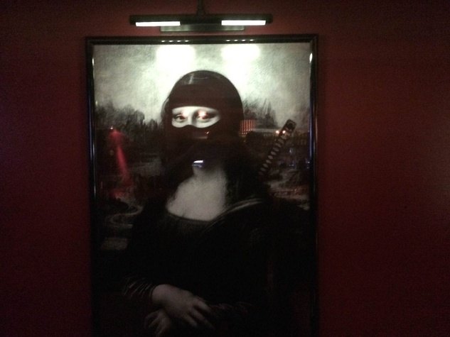 Ninja Ramen Mona Lisa poster