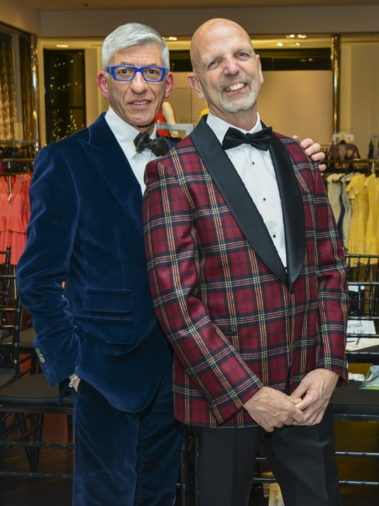 68 John Dascoulias and Clifford Pugh at the Dec My Room Fashion Show February 2014