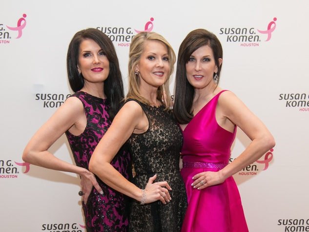 Komen Foundation Gala, Feb. 2016, Sandra Torres, Molly Bobrow, Brenda Pattillo