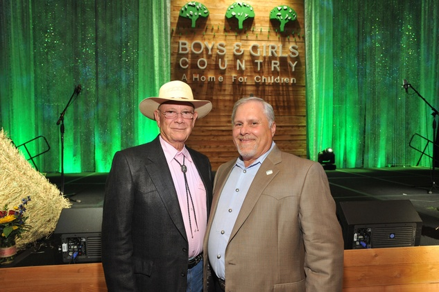 Walter Johnson, left, and Chuck Scianna at the Boys and Girls Country Gala November 2014