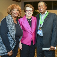 1 Zina Garrison, from left, Billie Jean King and John Wilkerson at the Zina Garrison Academy's 20th Anniversary Gala November 2013