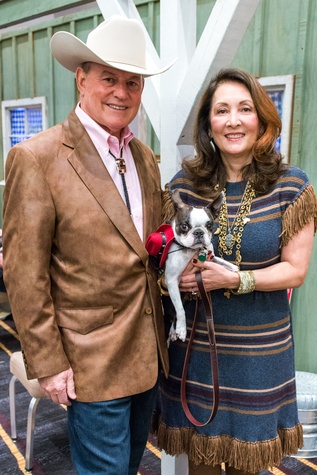 Paul and Penny Loyd with Talullah at the Citizens for Animal Protection Gala November 2014