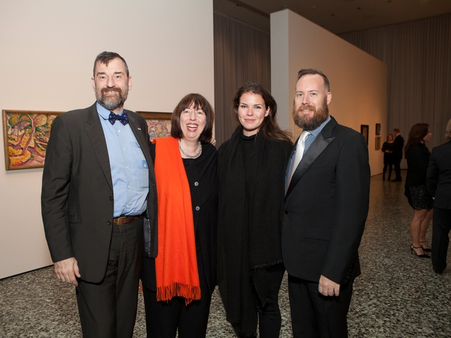 10 Bill Arning, from left, Alison de Lima Greene, Jessica Phifer and Mark McCray at the MFAH Georges Braque opening reception February 2014