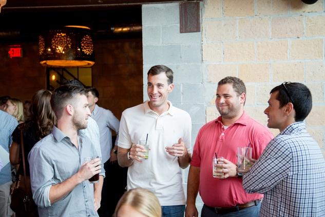 Houston, Casa de Esperanza YP Happy Hour, September 2015, Patrick Hawkey, Toff Fineman, Devin Magnussen, Kamen Kanev.
