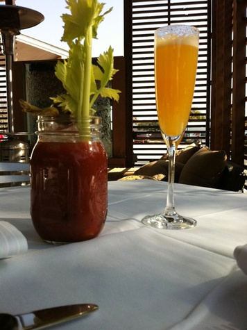 Haven bloody mary and Mimosa