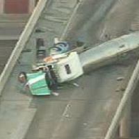 overturned truck rig on West Loop near Southwest Freeway June 2013