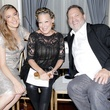 Marchesa front row Sophie von Haselberg, Bette Midler, Harvey Weinstein