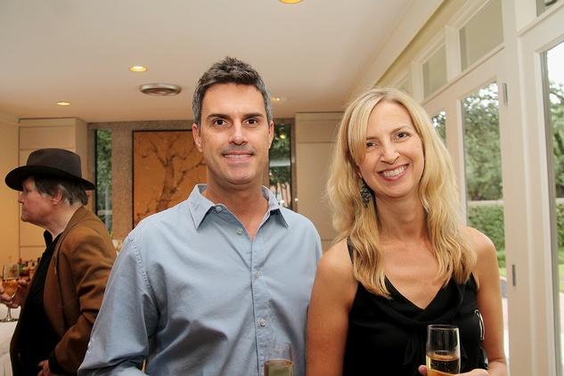 Michael and Sandra Burnett at the Da Camera Jason Moran launch party September 2014