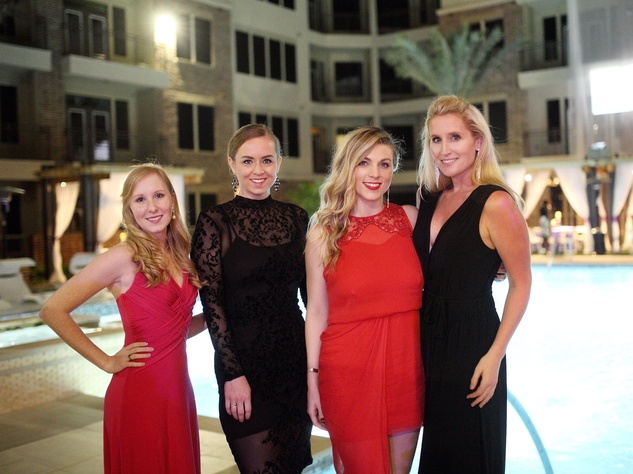 Houston, Big Brothers Big Sisters YP The Big Prom, Feb 2017, Kelsey Perkins, Christina Forgetta, Lindsey Norlander, Peyton Gregory