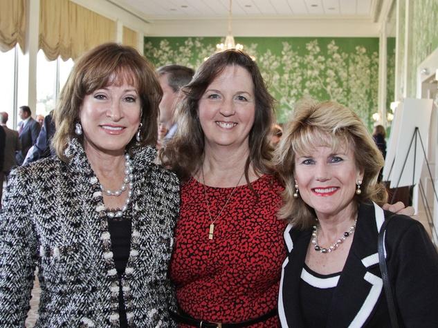 Janiece Longoria, from left, Sharon Roark and Cynthia Pickett-Stevenson at the Galveston Bay Foundation luncheon