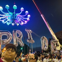 Houston Pride Parade 2016 chandelier