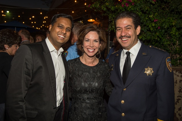 4 Dr. Aashish Kiran Shah, from left, Roseanne Rogers and Adrian Garcia at K9s4COPS Unleased 2013
