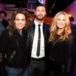 Carla Rosenberg, Chris Kahle, Kirstin Smith Sensabaugh at Need anniversary party