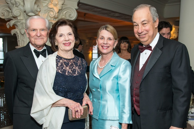 208 Steve and Mary Lynn Marks, from left, and Nancy and Bob Peiser at the Houston Symphony Wolfgang Puck wine dinner March 2015