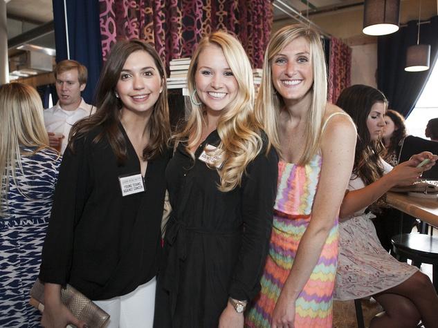 Christina Dandar, Leslie Shipp, Sara Schieble, CultureMap Dallas Social Cocktail Party, NYLO Southside