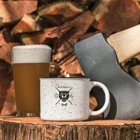 The Buzz Mill axe beer coffee logo