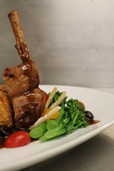 Roasted Rack of Lamb at Line & Lariat