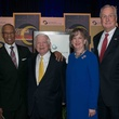 William Lawson, from left, Eugene Vaughan and Dorothy and Mickey Ables at the Center for Houston's Future luncheon March 2015