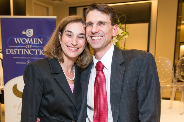 Roberta and Lee Schwartz at the Women of Distinction announcement party October 2014