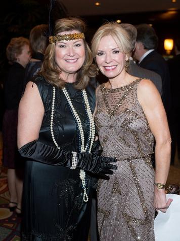 Judi Brubaker, left, and Cheryl Boblitt at the Covenant House Gala April 2014