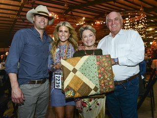"""19 Jay and Allie Fields, from left, and Linda and Jerry """"J.D."""" Fields at the Cattle Barons Ball April 2014"""