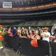 Astrodome public tour 50th anniversary party April 2015 Orbit is still a fan favorite