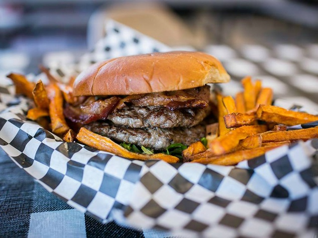 Wholly Cow Burgers burger and fries