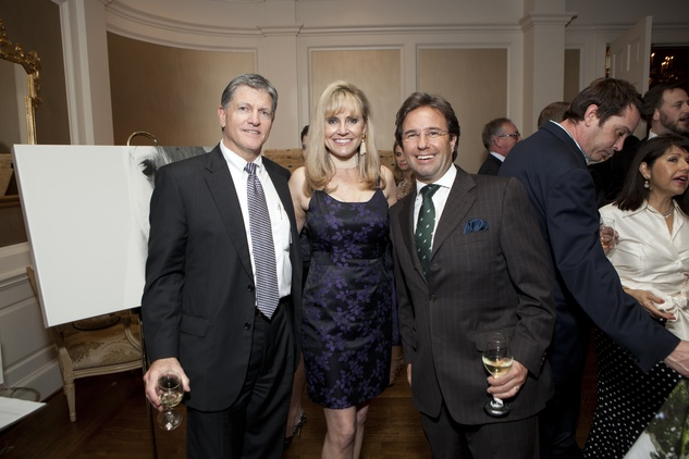 Dan Dinges, from left, Lacy Baird and Jacob Brechan at the SIRE Under the Stars event April 2014