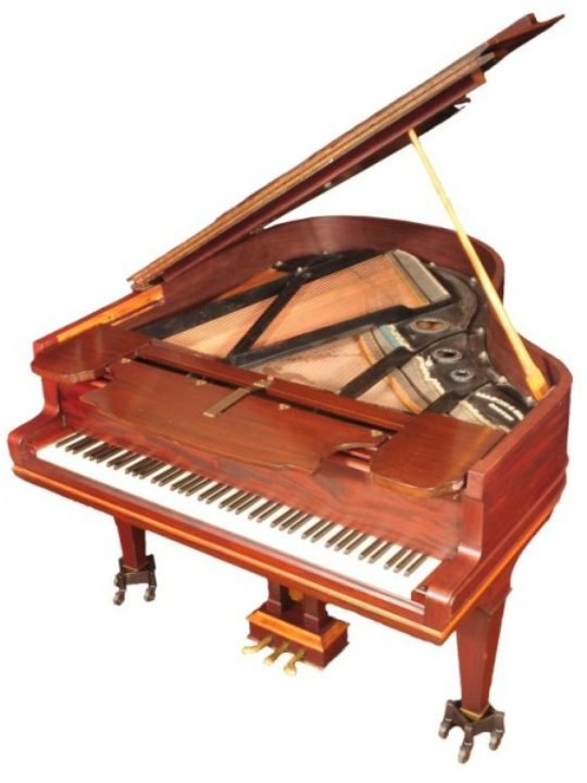 Eddie Wilson_Armadillo World Headquarters_Threadgill's_auction_Burley Auction Gallery_baby grand piano