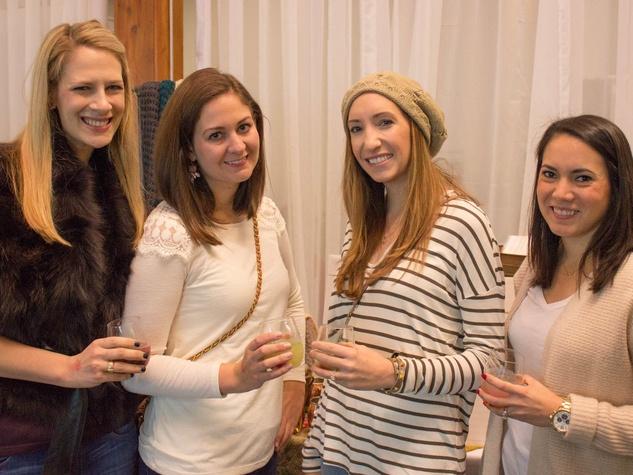 Lauren Kaspar, Caroline Mah, Jamie Lutzi, Jenna McLaughlin at CultureMap Holiday Pop-up Shop 2014