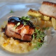 Scallop Pork Belly Corn Risotto