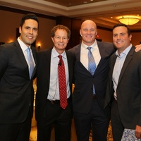 15 2484 Gabe Canales, from left, Tom Mackey, Chris Myers and Ryan Pontbriand at Blue Cure March 2015