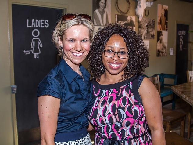 Kristina Kiik, Brandy Simpson at Carry The Load fundraiser dinner at Pecan Lodge