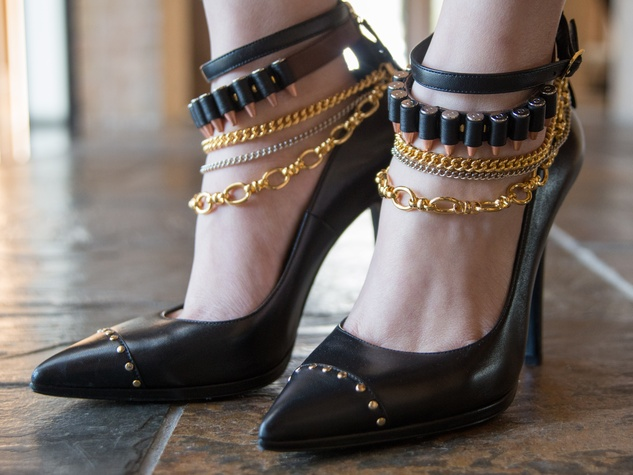 18 Black pumps with bullets at Joyce Echols Shoes Preview March 2015