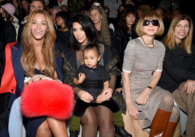Beyonce, Kim Kardashian with daughter North and Anna Wintour adidas Originals x Kanye West YEEZY SEASON 1 fashion show
