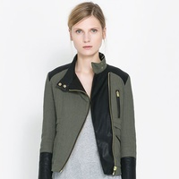 zara quilted crossover jacket