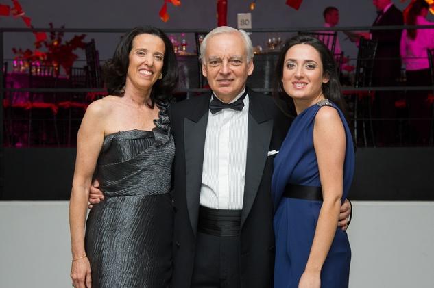 Eugenia and Eduardo Grüneisen, from left, with Maggie Grüneisen at the MFAH Latin American Experience November 2013