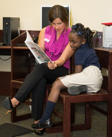 News, Shelby, AdvoCare reading event, August 2014, Katie Hermeston