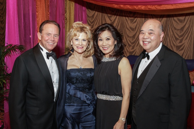 Jerry and Lisa Simon, from left, and Betty and Kim Gee at the Winter Ball January 2015