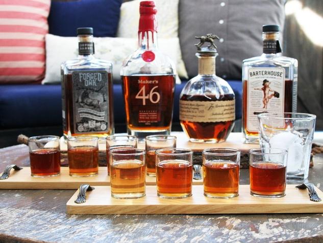 Bosscat Kitchen whiskey flights