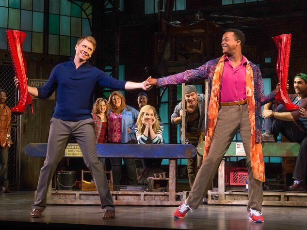 Kinky Boots Broadway 2015 J. Harrison Ghee Lola Simon Adam Kaplam Charlie Price