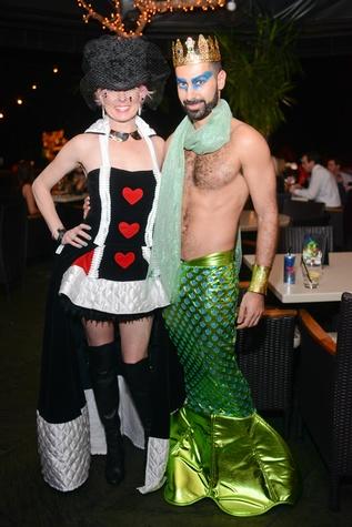 Vivian Wise and Fady Armanious at Hotel ZaZa's Halloween Bash November 2014