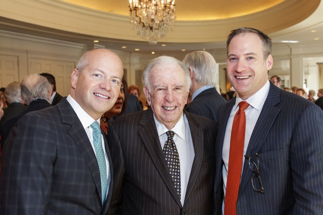 15 Patrick Summers, from left, Carlisle Floyd and Beau Miller at the Moores School of Music Luncheon November 2014